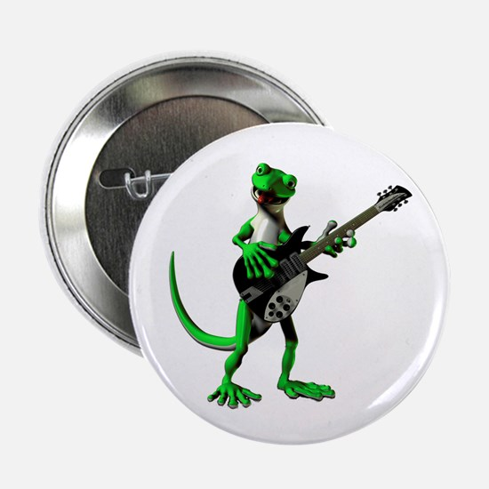 "Electric Guitar Gecko 2.25"" Button"