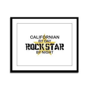 Californian Rock Star Framed Panel Print