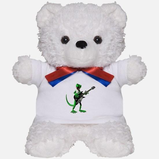 Electric Guitar Gecko Teddy Bear