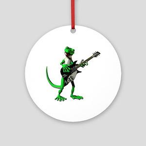 Electric Guitar Gecko Ornament (Round)