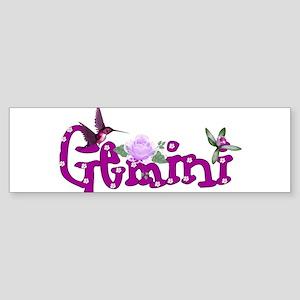 Gemini Flowers Sticker (Bumper)