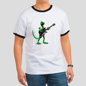 Electric Guitar Gecko Ringer T