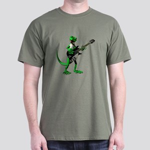 Electric Guitar Gecko Dark T-Shirt