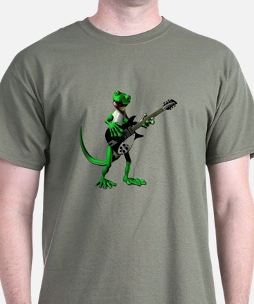 Electric Guitar Gecko T-Shirt