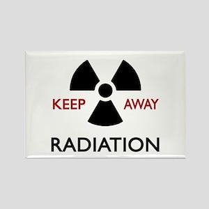 Radiation Sign Rectangle Magnet