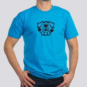 Pineal Pug Men's Fitted T-Shirt (dark)