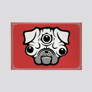 Pineal Pug Rectangle Magnet