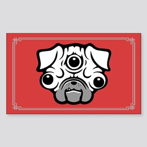 Pineal Pug Sticker (Rectangle)