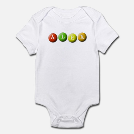 (Any name) spelled in M&Ms Infant Bodysuit