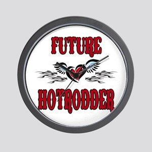 Future Hotrodder Red Wall Clock