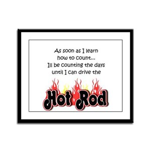 Hot Rod Baby Count Framed Panel Print