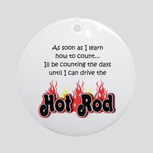 Hot Rod Baby Count Ornament (Round)