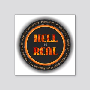 Hell is Real w Verses Sticker