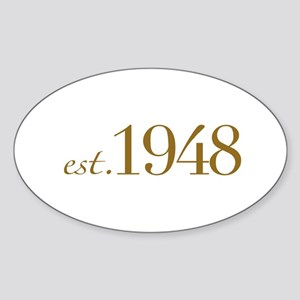 Est. 1948 (60th Birthday) Oval Sticker