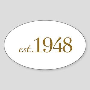 Est. 1948 (60th Birthday) Oval Sticker