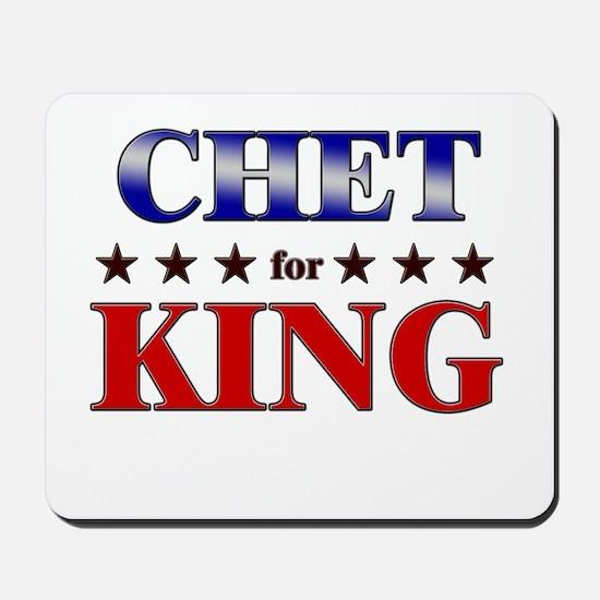CHET for king Mousepad