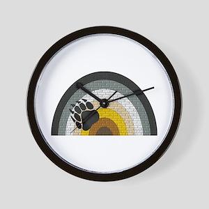 BEAR PRIDE RAINBOW/BRICK-- Wall Clock
