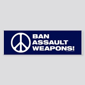 Ban Assault Weapons (50 Pack) Bumper Sticker