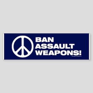 Ban Assault Weapons (50 Pack) Bumper Sticker