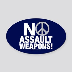 Ban Assault Weapons Oval Car Magnet