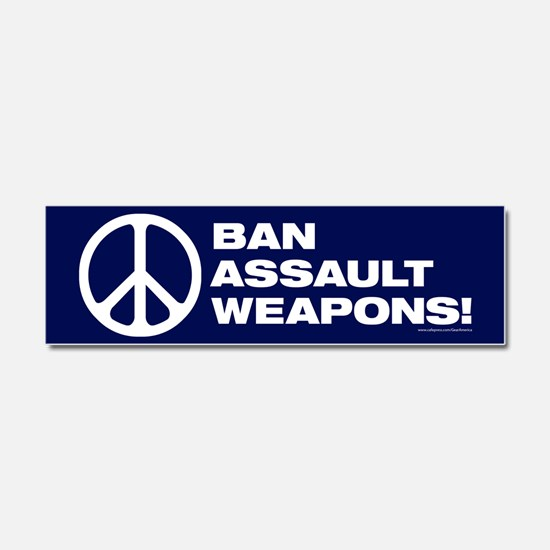 Ban Assault Weapons Car Magnet 10 X 3