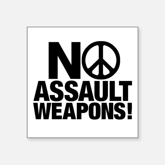 Ban Assault Weapons Sticker (square)