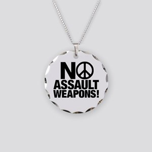 Ban Assault Weapons Necklace Circle Charm
