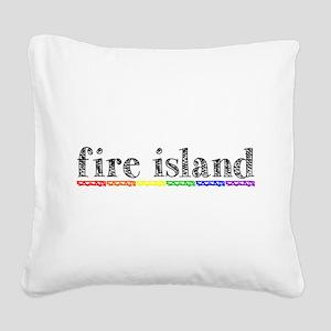 Fire Island Square Canvas Pillow