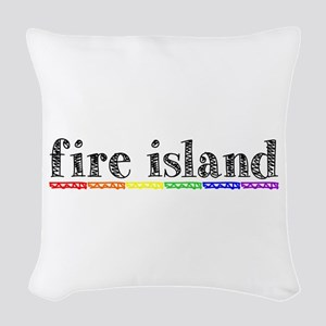 Fire Island Woven Throw Pillow