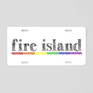 Fire Island Aluminum License Plate