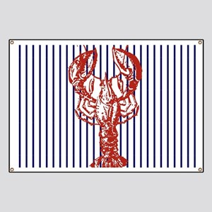 nautical stripes vintage lobster Banner