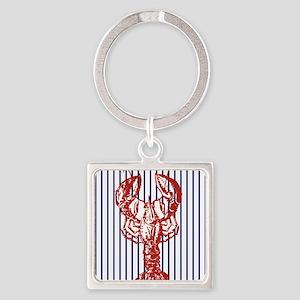 vintage red lobster navy stripes na Keychains