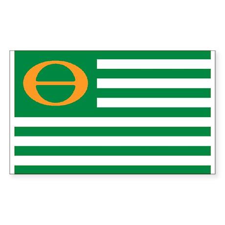 ECO FLAG... Sticker (Rectangular)