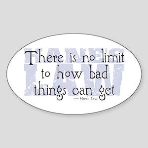 Hane's Law Oval Sticker