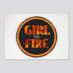 Girl on Fire 5'x7'Area Rug
