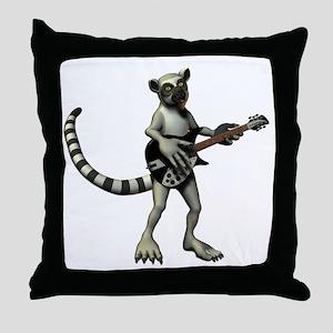 Lemur Guitar Throw Pillow