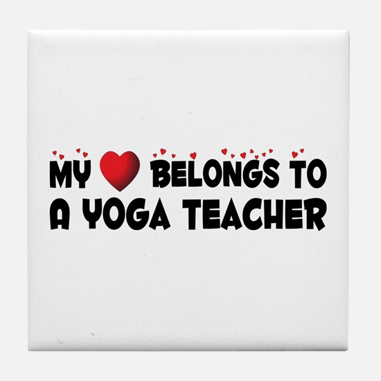 Belongs To A Yoga Teacher Tile Coaster