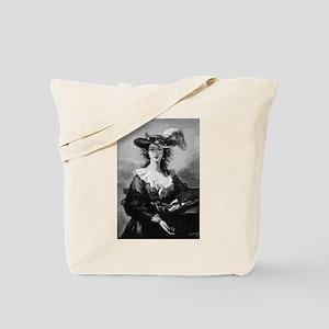 Beautiful Female Artist Portrait-Tote Bag