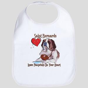 St Bernards Leave Paw Prints On Your Heart Bib