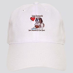 St Bernards Leave Paw Prints On Your Heart Cap