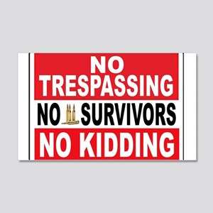 NO TRESPASSING Wall Decal