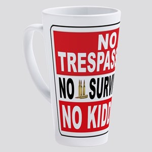 NO TRESPASSING 17 oz Latte Mug