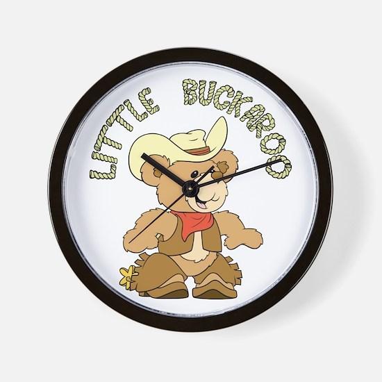 Little Buckaroo Bear Wall Clock