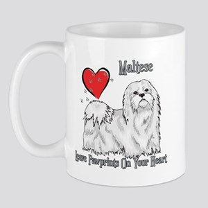 Maltese Leave Paw Prints Mug