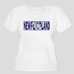 Hidden Newfoundland Women's Plus Size Scoop Neck T