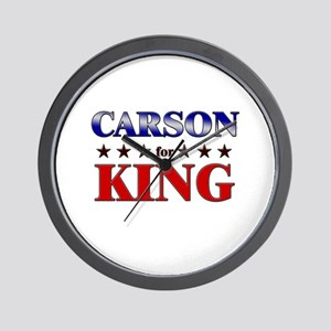 CARSON for king Wall Clock