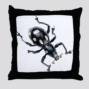 Spotted Beetle Throw Pillow