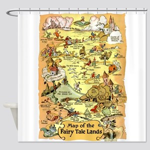 Map of the Fairy Tale Lands Shower Curtain
