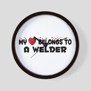 Belongs To A Welder Wall Clock