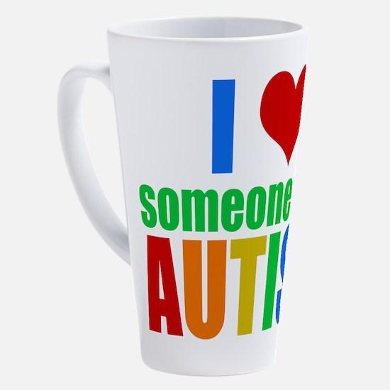 Cute Autism 17 oz Latte Mug